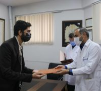 قدردانی رییس بسیج جامعه پزشکی خراسان رضوی از مدافعان سلامت بیمارستان دکتر شیخ